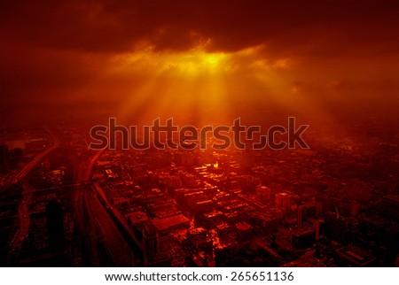 sunset Toronto, Canada - stock photo