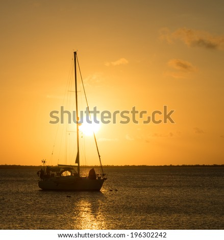 Sunset Views around Kralendijk the capital city of Bonaire Southern Caribbean