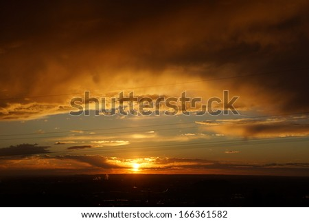 Sunset with impressive sky