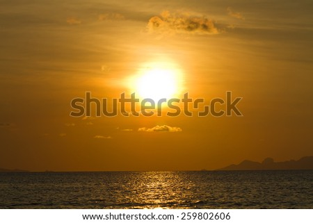 Sunsets on the sea - stock photo