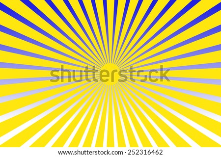 Sunshine background - stock photo