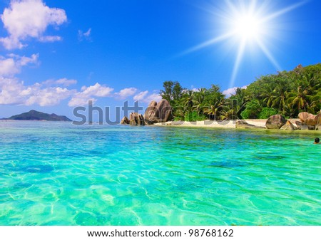 Sunshine Getaway Daylight Heat - stock photo