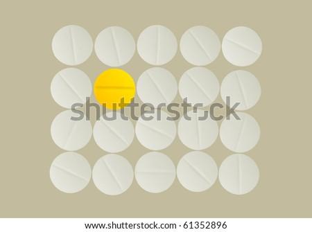 Sunshine pill - stock photo