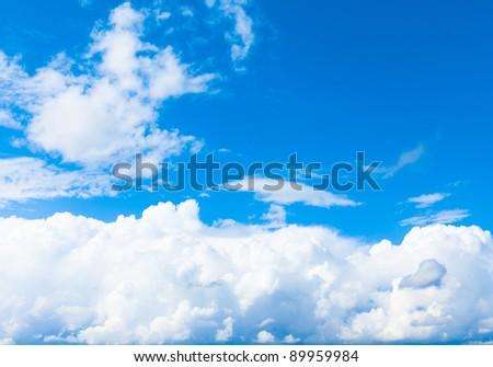 Sunshine View Blue - stock photo