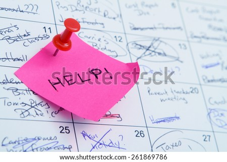 Super Busy Calendar stress - stock photo