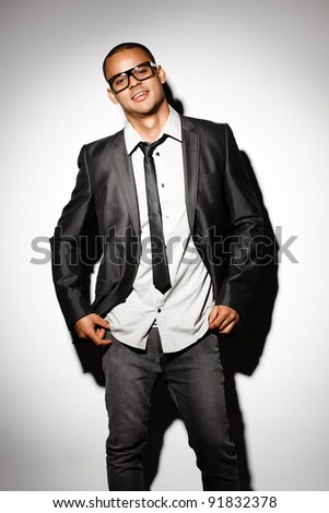 Super cool Business man - stock photo