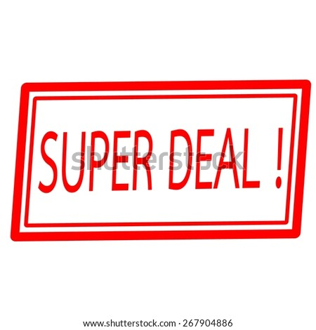 Super deal red stamp text on white - stock photo