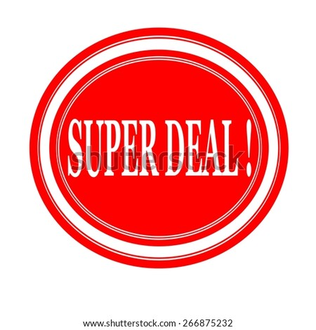 Super deal white stamp text on red - stock photo