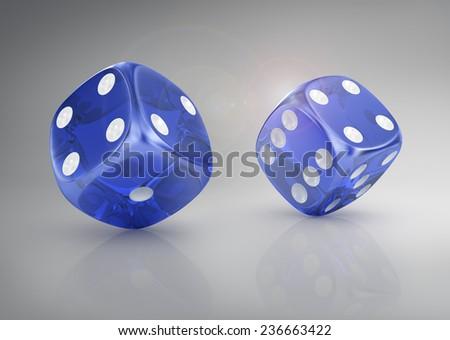 Super dice. - stock photo