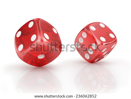 Super dice on a white background. - stock photo