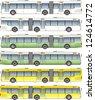 Super long bus . For huge transport system. - stock photo