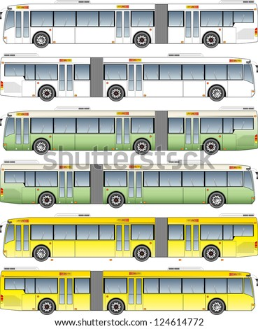 Super long bus . For huge transport system. - stock photo