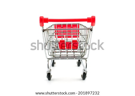 Super market cart isolated on white