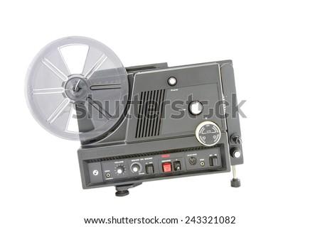 Super 8mm projector - stock photo