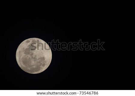 Super Moon ; March 19, 2011 shooting of Thailand