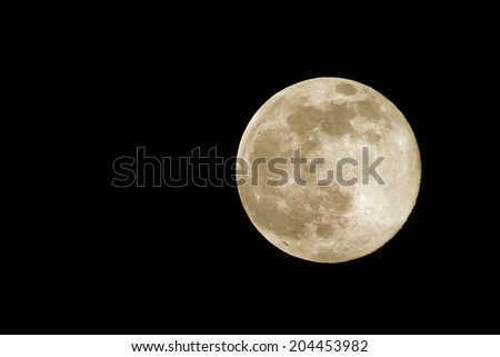 super moon, shot from Thailand - stock photo