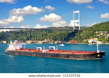 Super Tanker Ship - stock photo