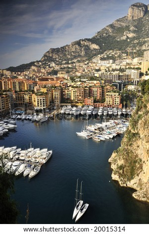 Super Yachts in Monte Carlo - stock photo