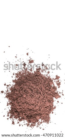 Superfood dried acai berry powder over wooden background