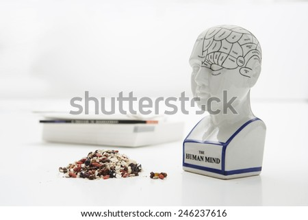 superfoods for the brain - stock photo