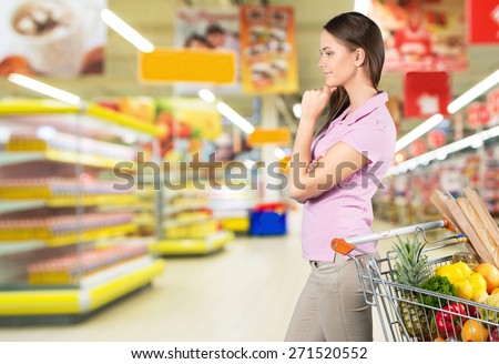 Supermarket, Groceries, Shelf.