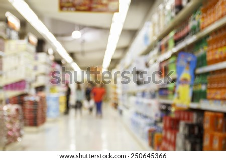 supermarket/mall blur for background - stock photo