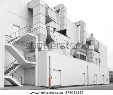 Supermarket ventilation system - stock photo