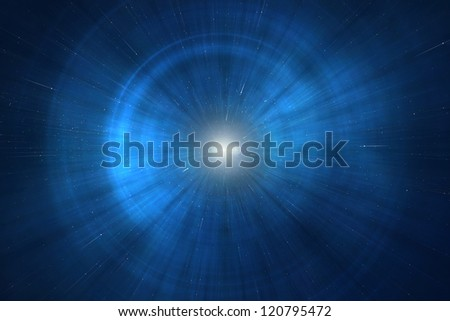 Supernova - Birth of a star in a distant galaxy - stock photo