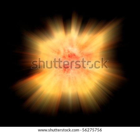 Supernova star burst - stock photo
