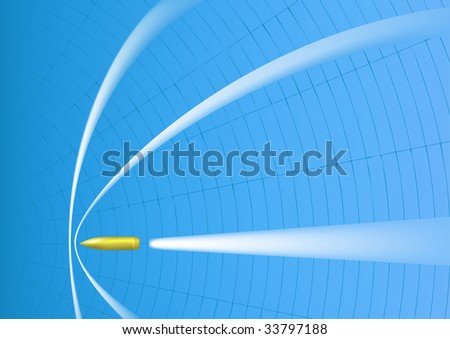 Supersonic bullet - stock photo