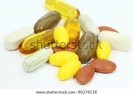 supplement - stock photo