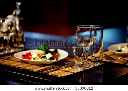 supplies for the restaurant, serving - stock photo