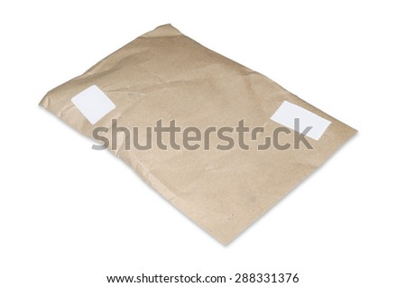 supplies mail on white background - stock photo