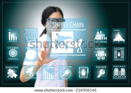 supply chain  - stock photo