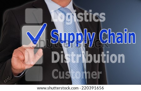 Supply Chain - Business Concept - stock photo