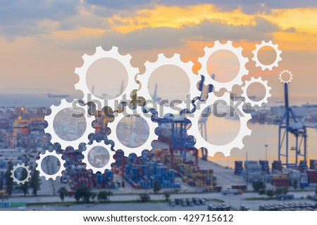 supply chain management logistics - stock photo