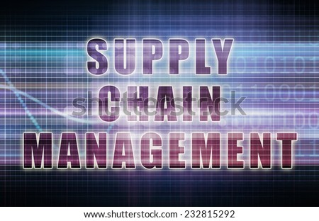 Supply Chain Management on a Business Chart - stock photo