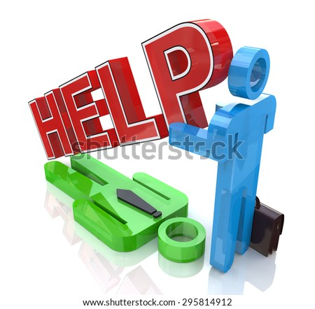 Support business partner  - stock photo