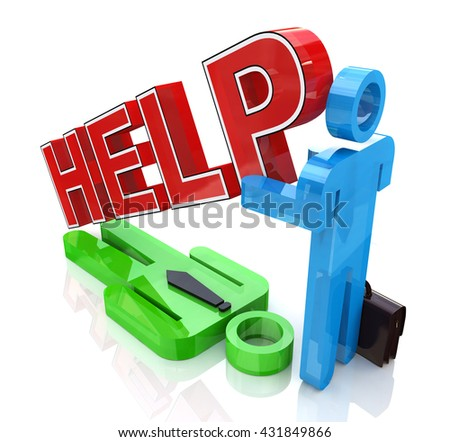 Support business partner in the design of related information to support. 3d illustration - stock photo