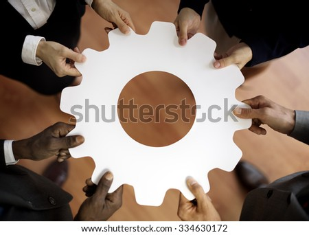 Support Corporate Teamwork Business Connection Concept - stock photo