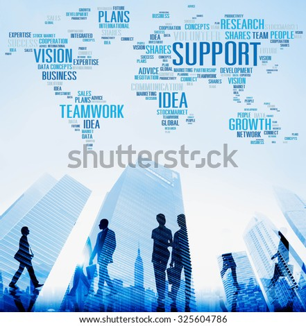 Support Idea Plans Vision Business Growth Global Concept - stock photo