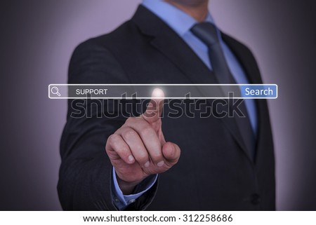 Support on Search Engine - stock photo