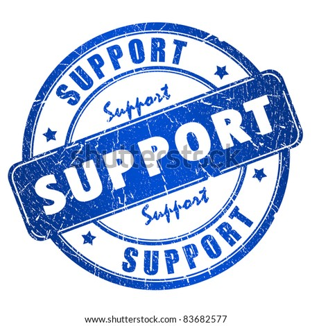 Support stamp - stock photo