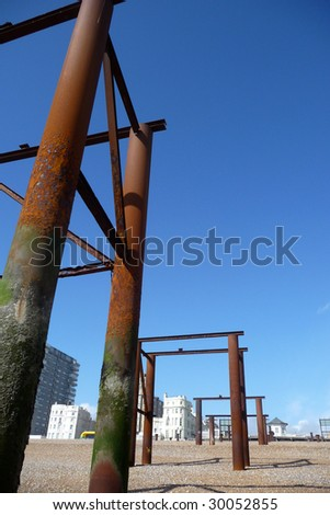 support structure for the old Brighton pier.