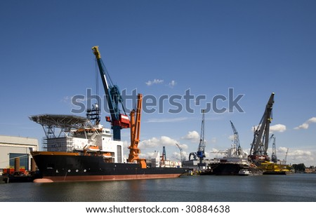Support vessel - stock photo