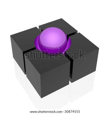 support  (violet set) - stock photo