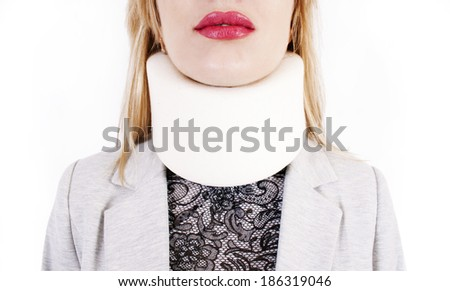 Supporting collar on a neck - stock photo