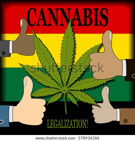 Supporting the legalization of cannabis - stock photo