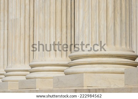 Supreme Court Building architectural details - Washington DC, United States of America - stock photo