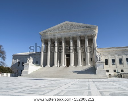 Supreme court building exterior in Washington DC, USA. - stock photo